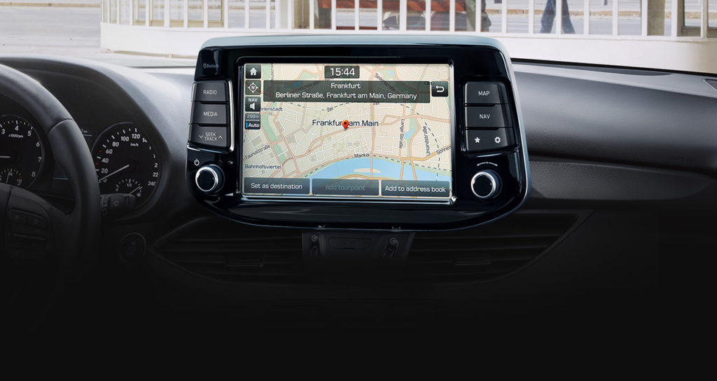 "Navigacija i dodirni zaslon ""floating"" tehnologije"