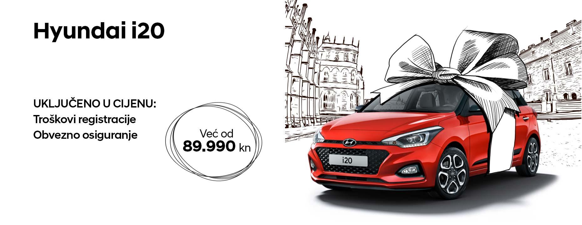 Hyundai i20 već od 89.990 kn