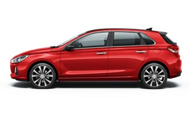 Hyundai i30 Red (Mat)