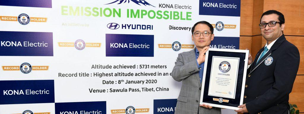 Hyundai KONA Electric u Guinnessovoj knjizi rekorda!