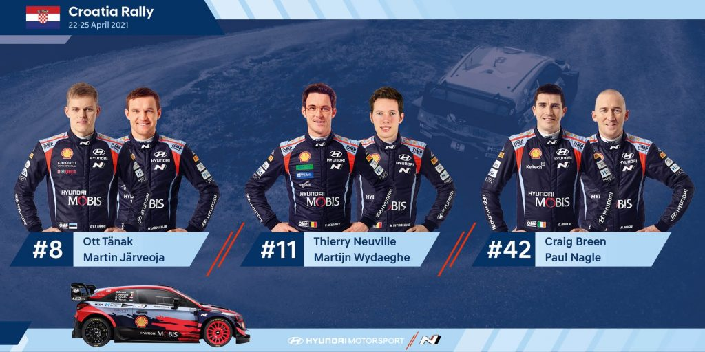 Hyundai tim za WRC Rally Croatia